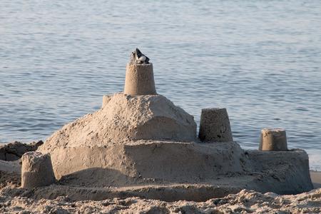 Sand castle on the beach baltic bea
