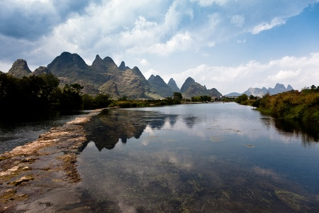 east river: Chinese landscape