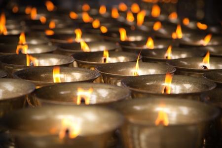 aroma bowl: Thousand candles Stock Photo