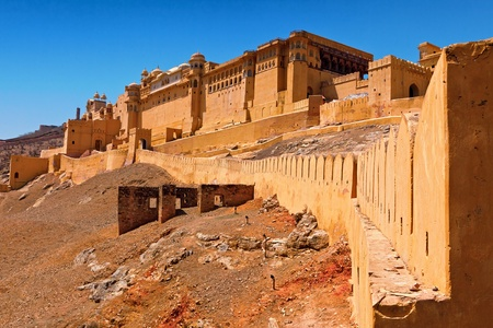 fort: Amber Fort in Jaipur India