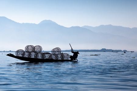 inle: Fisherman in Inle Lake Myanmar