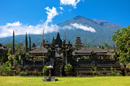 hindu god shiva: Hindu temple Pura Besakih the most sacred temple in Bali, Indonesia. Stock Photo