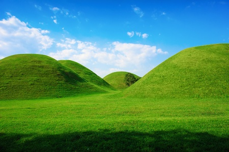Green hills in summer  photo