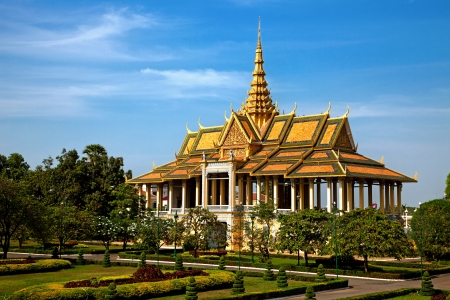 phnom phen: Moonlight pavillion in the Royal Palace of Phnom Pehn, Cambodia Stock Photo