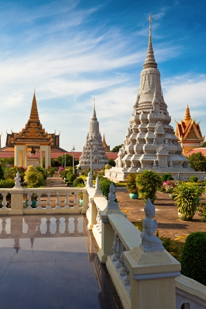 phen: Royal Palace gardens in Phnom Phen, Cambodia