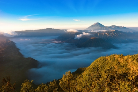 south east: Sunrise over Gunung Bromo Volcano in Indonesia