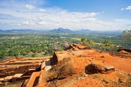archeological site: Top of Sigiriya Rock Archeological site in Sri Lanka