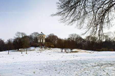 pavillion: Monopteros building in English Garden, Munich