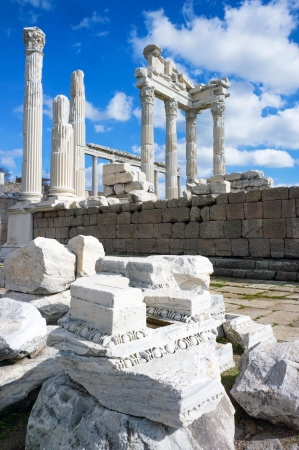 Temple of Trajan in the ancient city of Pergamon, Bergama, Turkey photo