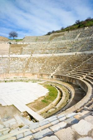 constantine: Amphitheater in the ancient city of Ephesus, UNESCO world heritage site in Selcuk, turckey