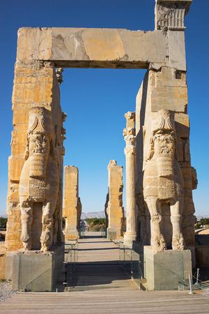 alexander great: Gate of Nations, Persepolis, Iran.