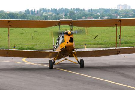 steers: Light aircraft since World War II steers the aerodrome