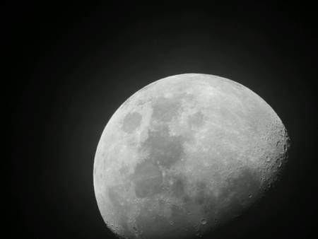 dark: Moon in the dark sky