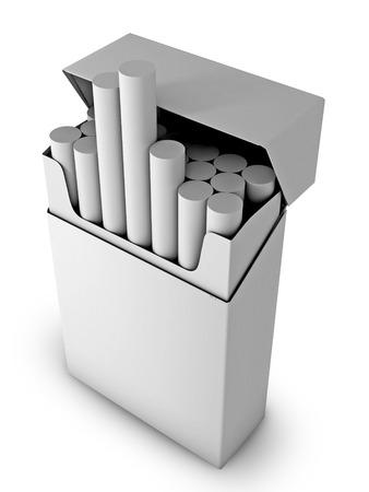 cigarette pack: Flip-top hard cigarette pack on a white background