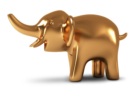 Elephant  Golden statuette photo