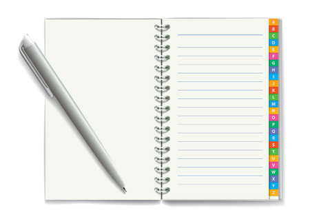 Notepad with spiral binding of pages Vector