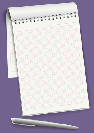 jotter: Notepad with spiral binding of pages