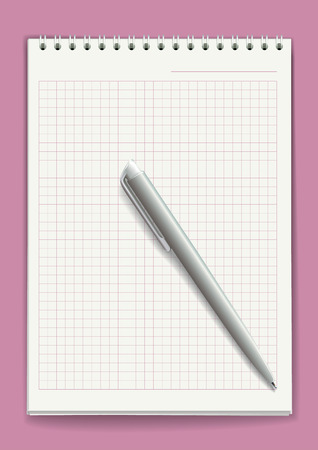 tabbed binder: Notepad with spiral binding of pages