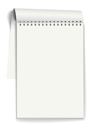 Notepad with spiral binding of pages