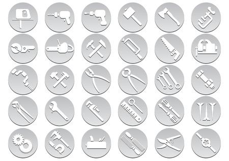 nipper: Set of tool icons. Vector illustration Illustration