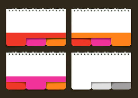 inkle: Jotter with colored tabs. Vector illustration Illustration