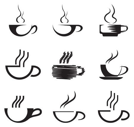 tipple: Set of coffee cups. Vector illustration Illustration