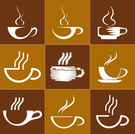 quencher: Set of coffee cups. Vector illustration Illustration