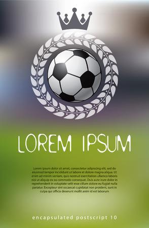 kickoff: Soccer theme background. Vector illustration