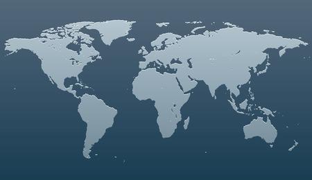 世界地図の様式化されたイメージ。ベクトル図