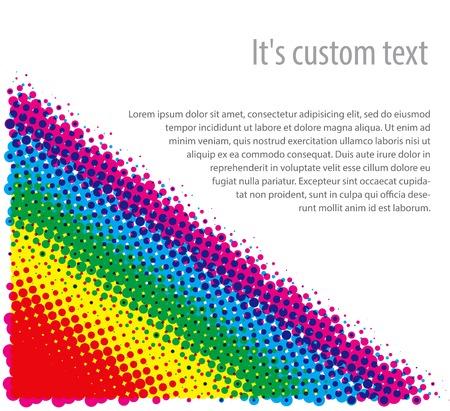grafiti: Rasterized (CMYK) halftone dotty background. Vector illustration