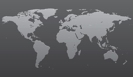 gradation art: Stylized image of the world map. Vector illustration Illustration