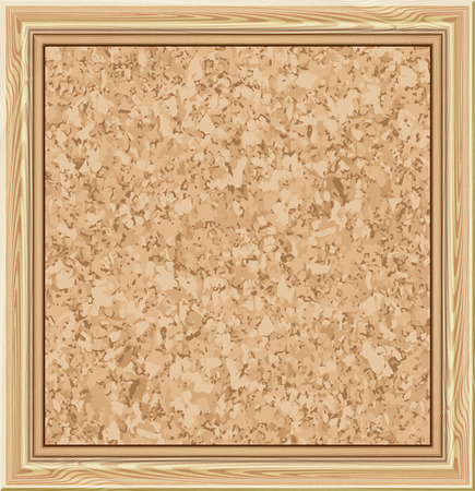 Cork notice board. Vector illustration
