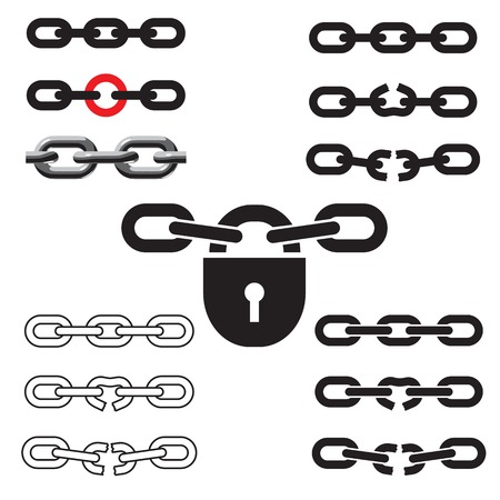 chain links: Chain links. Vector illustration