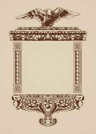 ancient paper: Vintage frame on ancient paper.