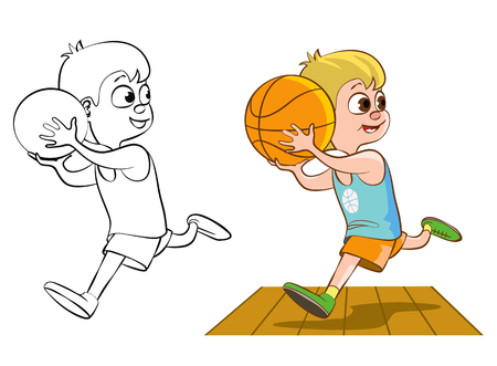 boy basketball: Boy playing basketball.