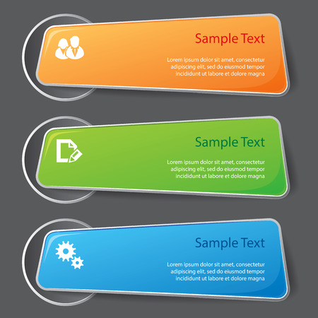 Set of graphic elements for infographics. For various purposes. Vector illustration Ilustração