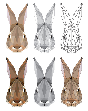 Stylized image of hares head. Vector illustration