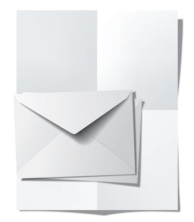 折り畳まれた紙と封筒。ベクトル図 写真素材