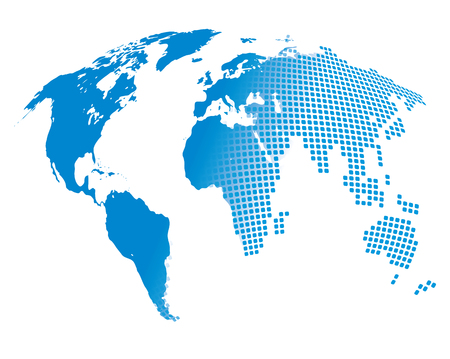 Image stylisée de la carte du monde. Vector illustration Banque d'images - 55218938