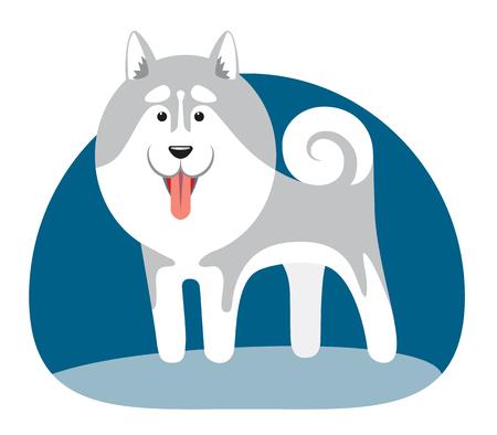 북부 지역의 강아지의 집단 양식에 일치시키는 이미지. 벡터 일러스트 레이 션