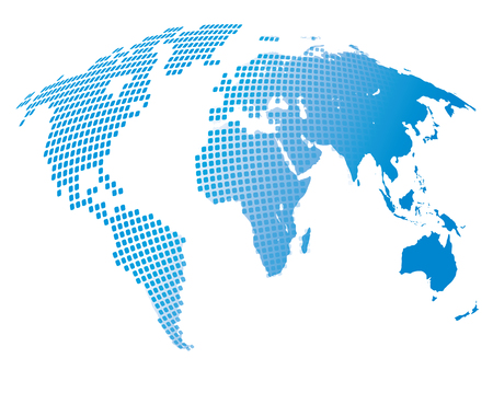 Stylized image of the world map. Vector illustration Banco de Imagens
