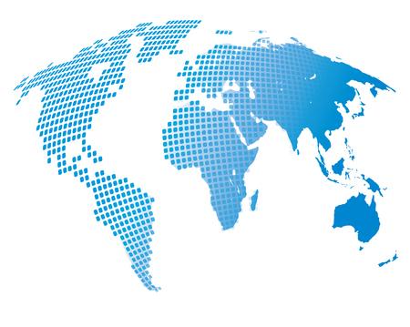 transmutation: Stylized image of the world map. Vector illustration Stock Photo
