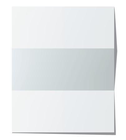 folded paper: Folded paper sheet. Vector illustration Stock Photo