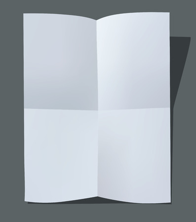 Folded paper sheet. Vector illustration Banco de Imagens