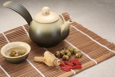 ginseng: Dendrobium tea,herbal medicine, Chinese medicine,