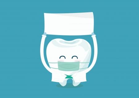 dentist write here Stock Illustratie