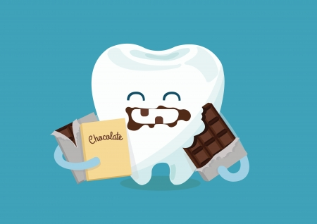 mouth pain: Chocolate tooth