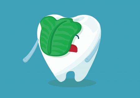 swill tooth Stock Illustratie