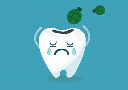 bomb tooth 免版税图像 - 24159983