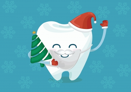 Christmas tooth Vector